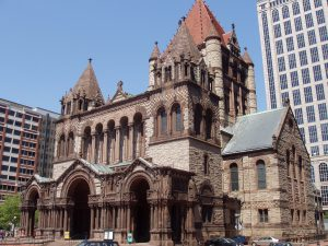 Die Trinity Church in Boston gilt als eines der stilbildenden Gebäude der Richardsonian Romanesque. (Foto: Daderot/CC BY-SA 3.0)